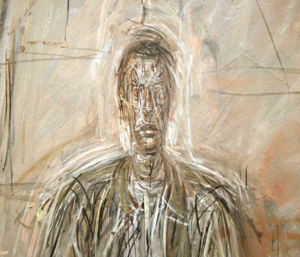 Alberto Giacometti - Seated Man - Olieverf op canvas (detail)