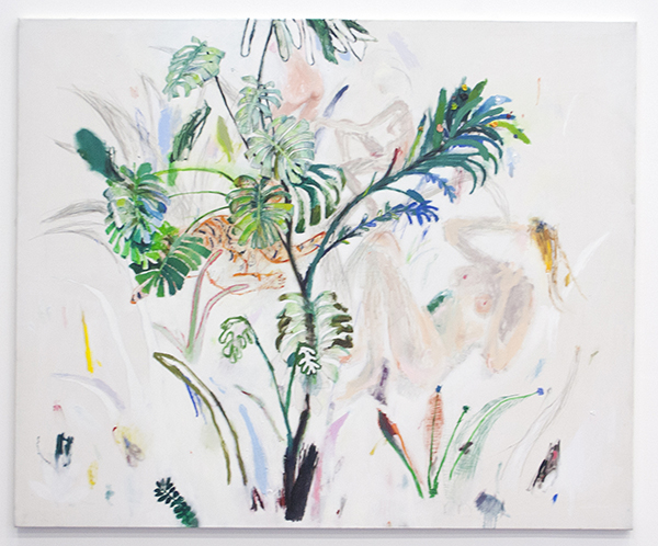 Alexander Skorobogatov - Untitled - 140x170cm Olieverf, oliepastel, acrylverf, kool, pen en potlood op canvas 2013