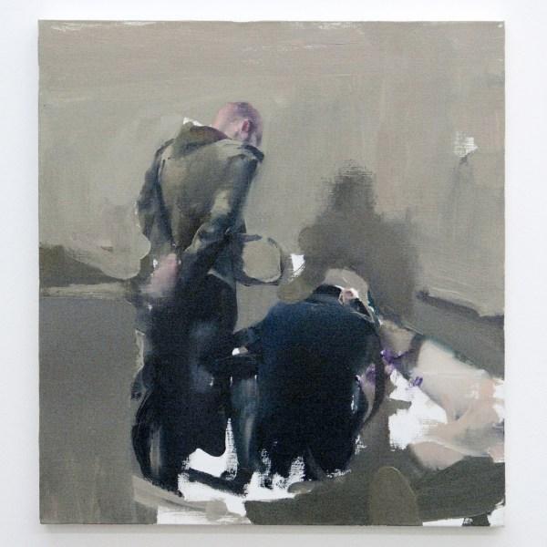 Alin Bozbiciu - Composition - 50x34cm Olieverf op canvas