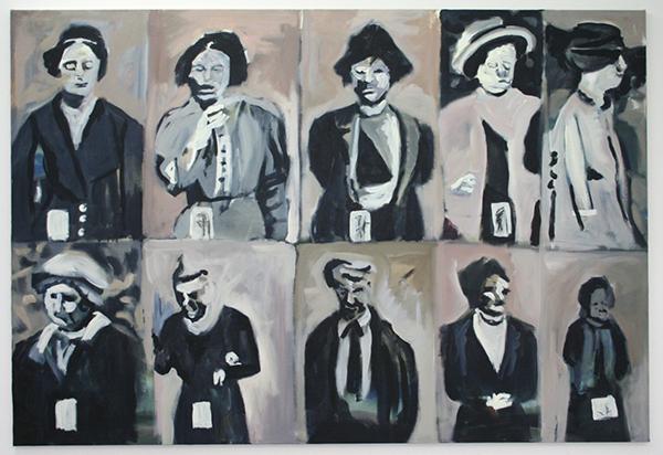 Alle Jong - False Numbers - 150x220cm Acrylverf op canvas