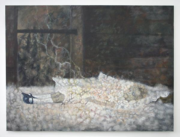 Alle Jong - Onbekende Titel - 150x200cm Acrylverf op canvas