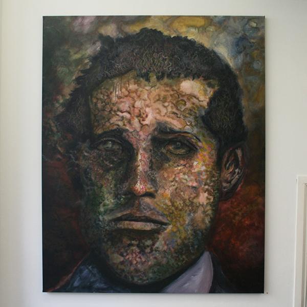 Alle Jong - Self Portrait - 160x200cm Acrylverf op canvas