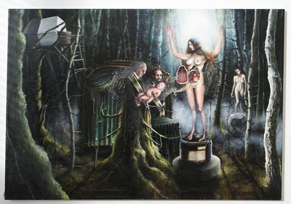 Andrea Lehmann - Eisen - 90x130cm Olieverf en lak op doek