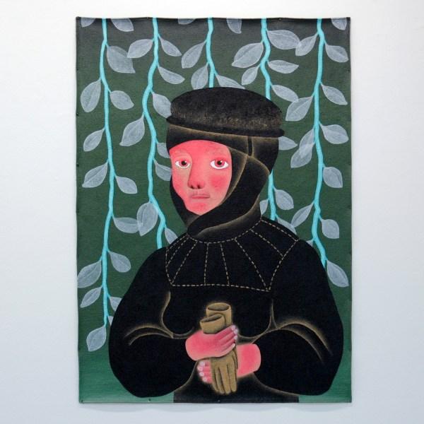 Anne Forest - Barbara - 135x94cm Acrylverf op tapijt