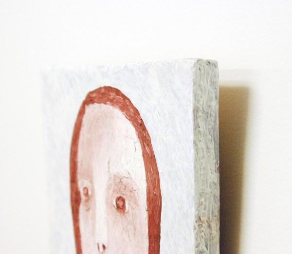 Anne Forest - Henrietta - 28x23cm Olieverf en gesso op paneel (detail)