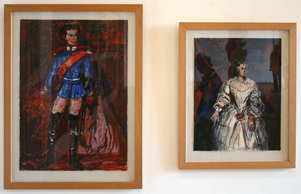 Anselm Kiefer - Ludwig II von Bayren & Elisabeth von Osterreich - Goache en aquarel op papier