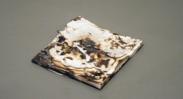 Anya Gallaccio - Snow - 40x40cm Verbrand papier