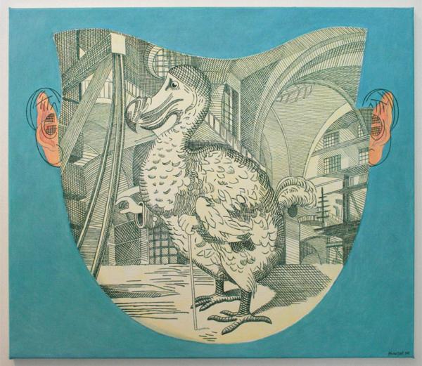 Arie van Geest - Lewis Carroll - 65x75cm Olieverf op canvas