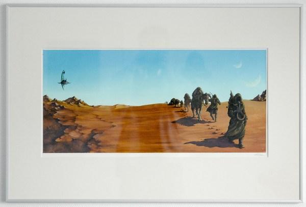 Arik Roper - Sleep Dopesmoker - 27x13inch Aquarel, inkt en gouache op papier