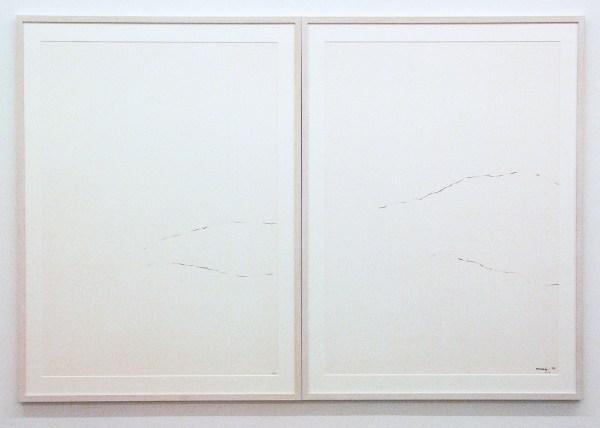 Armando - Zonder Titel - twee maal 100x75cm Potlood op papier, 1972