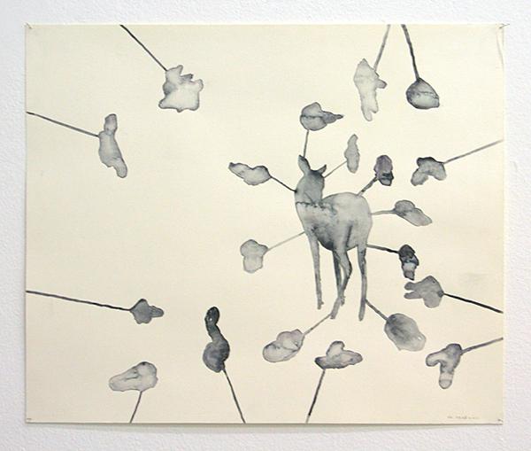 Arno Kramer - Zonder Titel - 43x52cm Aquarel op papier
