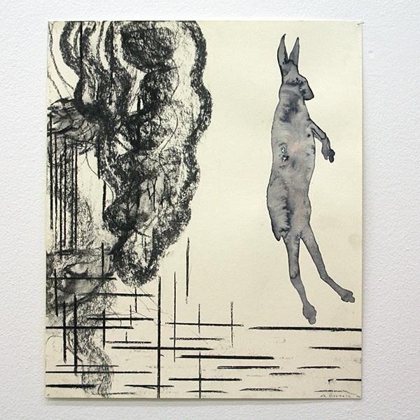 Arno Kramer - Zonder Titel - 52x43cm Houtskool op papier