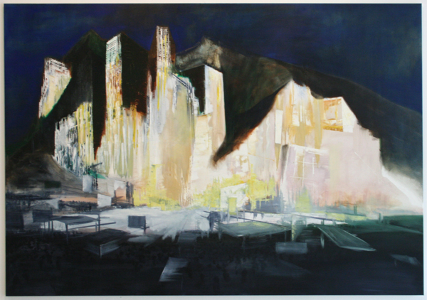 Bas Coenegracht - Mountains - 140x200cm Olieverf en acrylverf op canvas