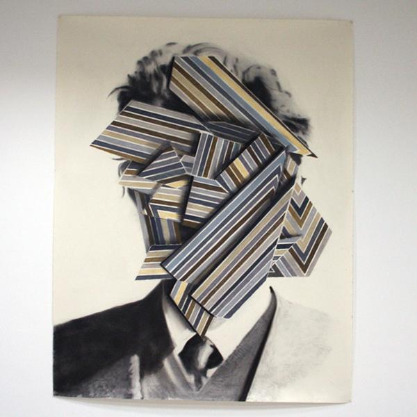 Bas Louter - Untitled - 205x152cm Houtskool, grafiet en pastel op papier