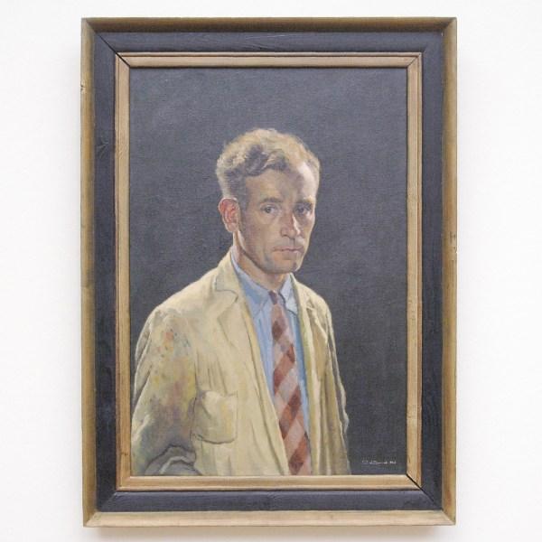 Ben van den Heuvel - Zelfportret - 80x55cm Olieverf op doek, 1943, verworven in 1944