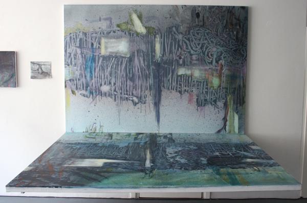 Bert Frings - The Painter - 140x200x150cm Arcylverf op canvas