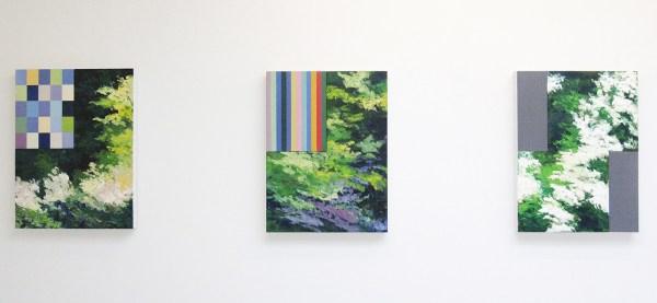 Bert Loerakker - Untitled & Untitled &Untitled - 80x60cm Olieverf en alkydverf op linnen op paneel