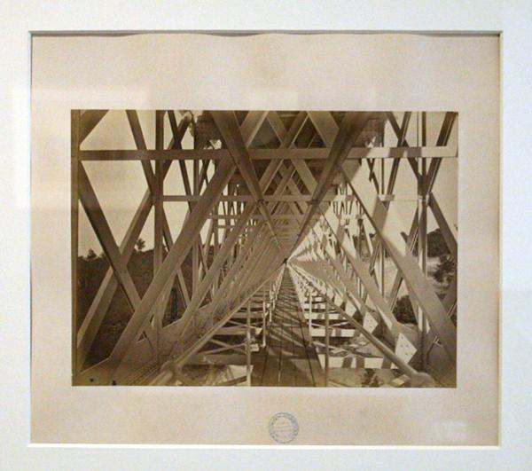 Berthaud Freres - Cie d'Orleans, Linges du Centre, Viaduc de Bellon - Albuminedruk 1871