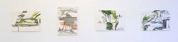 Besttie van Haaster - Diverse titels - 29x40cm Gekleurde OostIndische inkt op papier