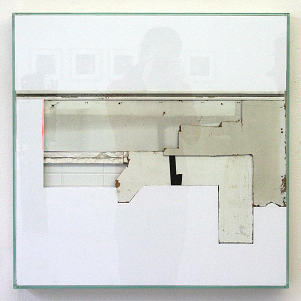 Bram Braam - White Square 1 - 66x66x7cm Mixed Media