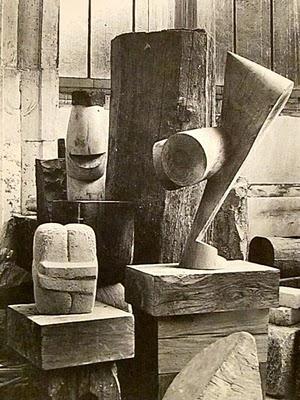 Brancusi  - The Kiss & The Chief & The Sorceress - 1925