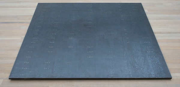 Bruce Nauman - First Poem Piece - Staalplaat