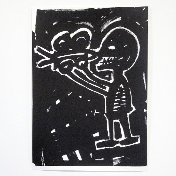 Cedar Lewisohn - Untitled (Basquiat) - 70x100cm Zeefdruk