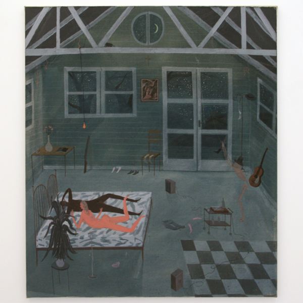 Charlie Roberts - Frankie and Johnny - 100x86cm Olieverf op linnen