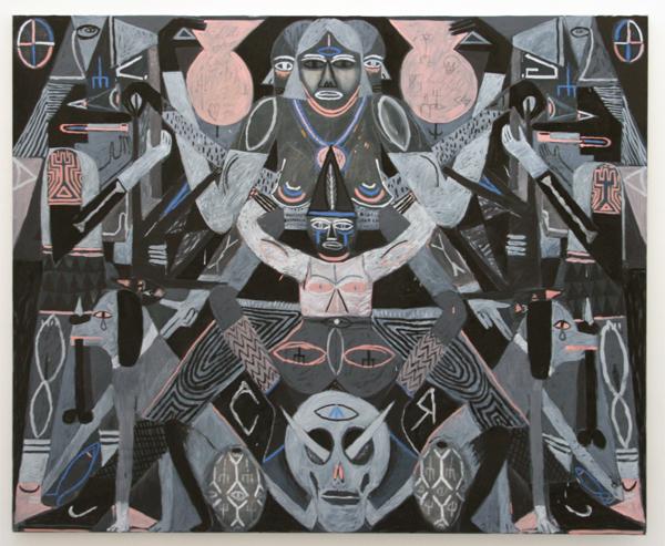Charlie Roberts - YOLO - 180x220cm Olieverf op linnen