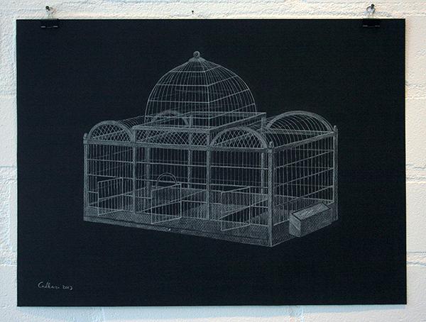 Christina Calbari - Tableau II - 44x32cm Potlood op papier