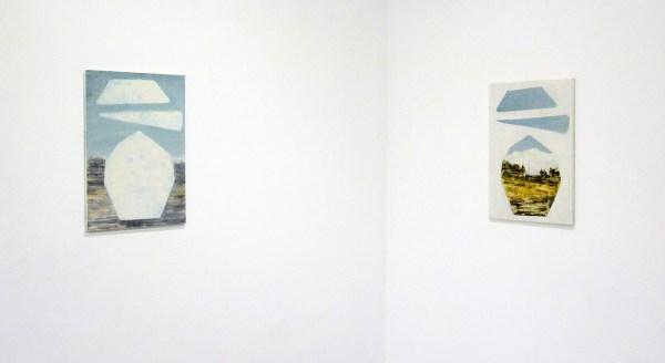 Ciaran Murphy - Cut 2 & Cut 1 - 70x50cm Olieverf op canvas