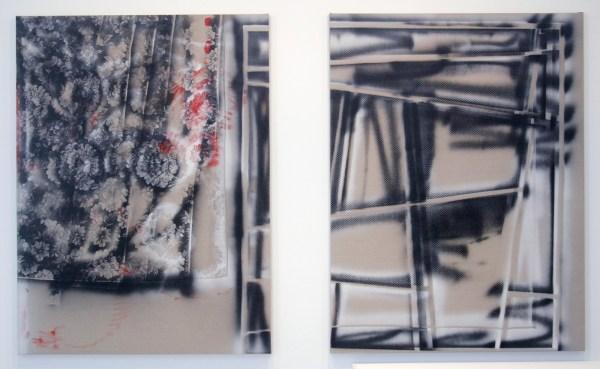 Coen Vunderink - Untitled & Untitled - beide 200x150cm Tempera op linnen