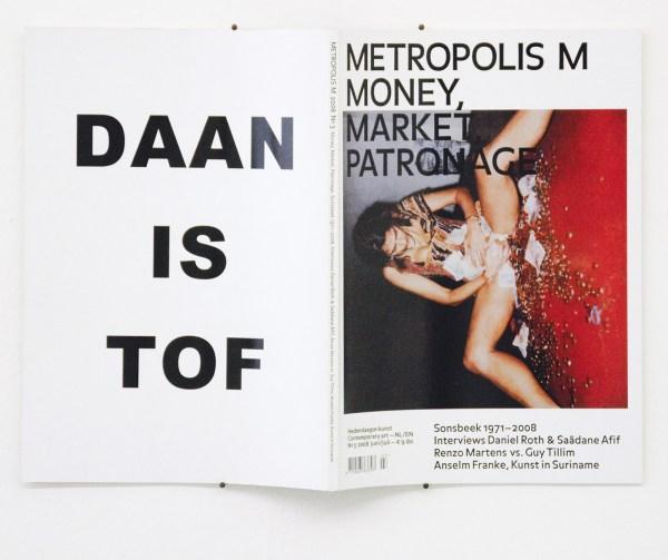 Daan den Houter - Daan is Tof, Metropolis M - Advertentie achterzijde Metropolis M