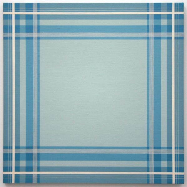 Daan van Golden - Composition with Blue Square - 70x70cm Gloss paint op canvas op paneel