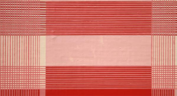Daan van Golden - Composition with Red Square - 70x70cm Gloss paint op canvas op paneel (detail)