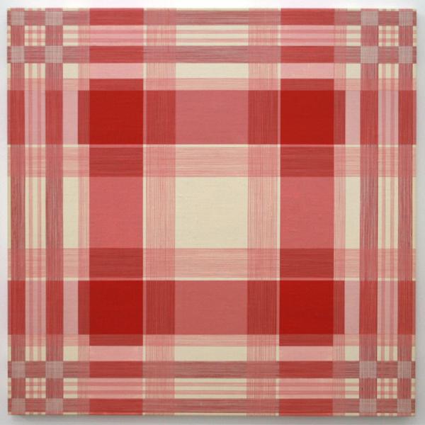 Daan van Golden - Composition with Red Square - 70x70cm Gloss paint op canvas op paneel