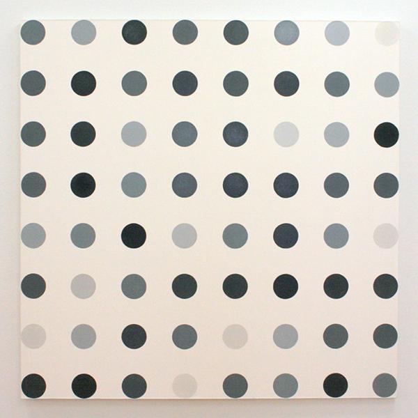 Damien Hirst - Cyclohexane - 152x152cm Huishoudverf (acrylverf?)