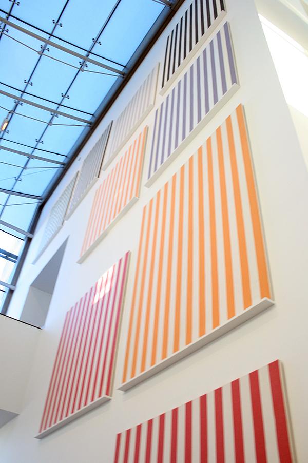 Daniel Buren - Fragmente einer Rede uber die Kunst - Selectie van 9 doeken