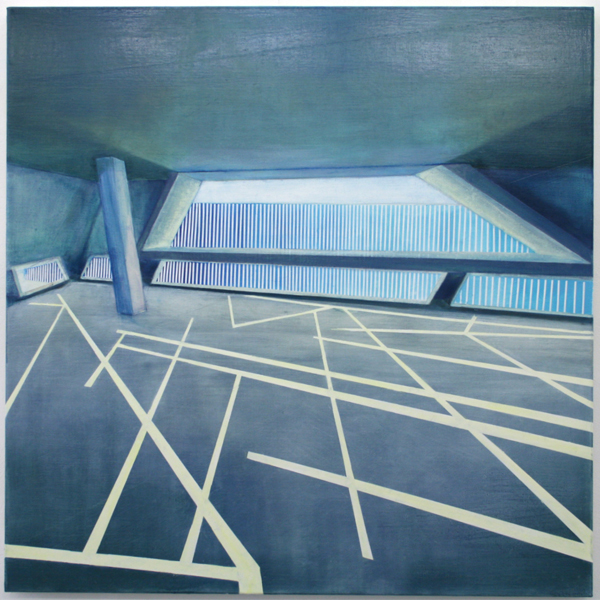 Daniel Mullen - Exit - 100x100cm Olieverf op canvas