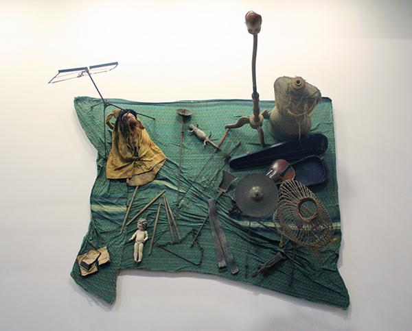 Daniel Spoerri - Marche aux puxes (hommage a Giacometti)