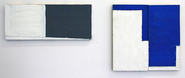 Dave Meijer - Zonder Titels - 19x48cm & 37x37cm Olieverf op paneel