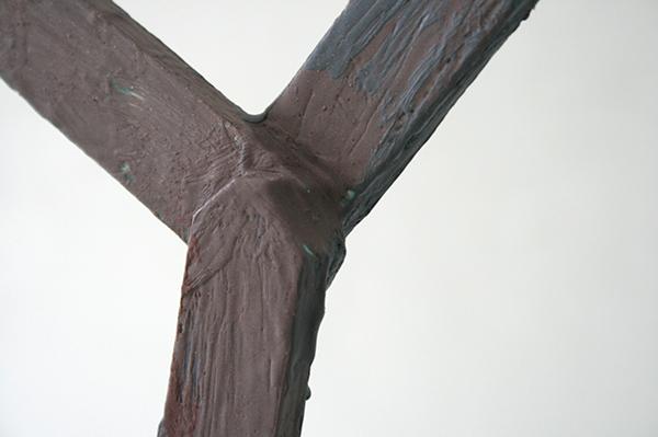 Derk Thijs - Grey Summa - 106x62x13cm Hout en encaustiek (detail)