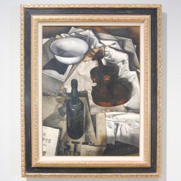 Dick Ket - Stilleven (met viool op tafel) - Olieverf op doek, 1930