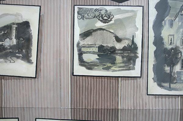 Diederik Gerlach - Bad Vilbel - 69x91cm Gouache en OostIndische inkt op papier (detail)