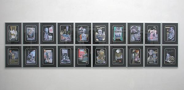 Diederik Gerlach - Piz Berlin - 20 maal 29x19cm Collage