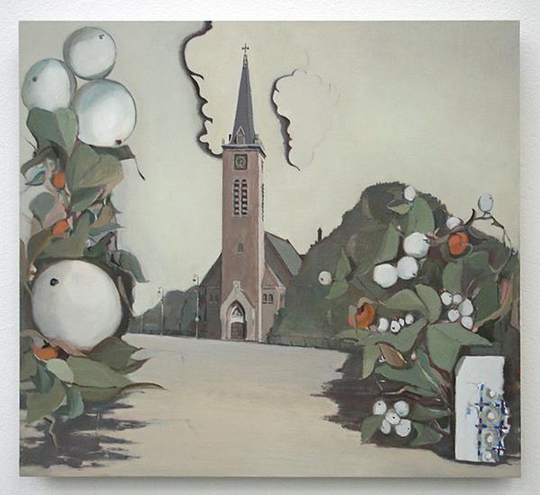 Diederik Gerlach - Wandeling, Kropholler - 47x51cm Olieverf op paneel