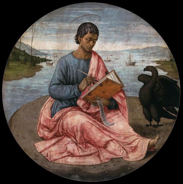 Domenico Ghirlandino - St. John the Evangelist on the Island of Patmos