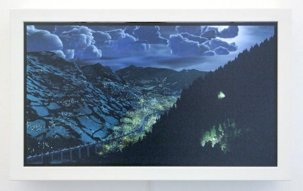 Eelco Brand - Onbekende Titel - Digitale animatie op 23inch scherm en houten frame