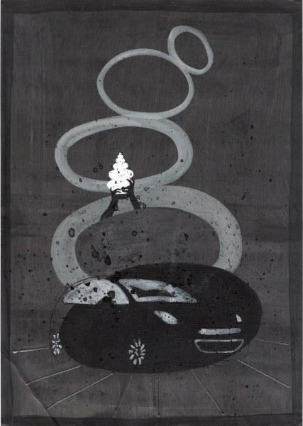 Elizabeth de Vaal - An other point of view - 32x24cm Potlood en inkt, 2014