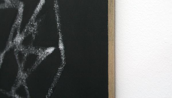 Elodie Lesourd - Perforation Comete - 40x50cm Acrylverf op MDF (detail)